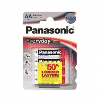 Эл.Пит. Panasonic LR03REE/4BR Everyday (SILVER) (КОМП. 4ШТ)